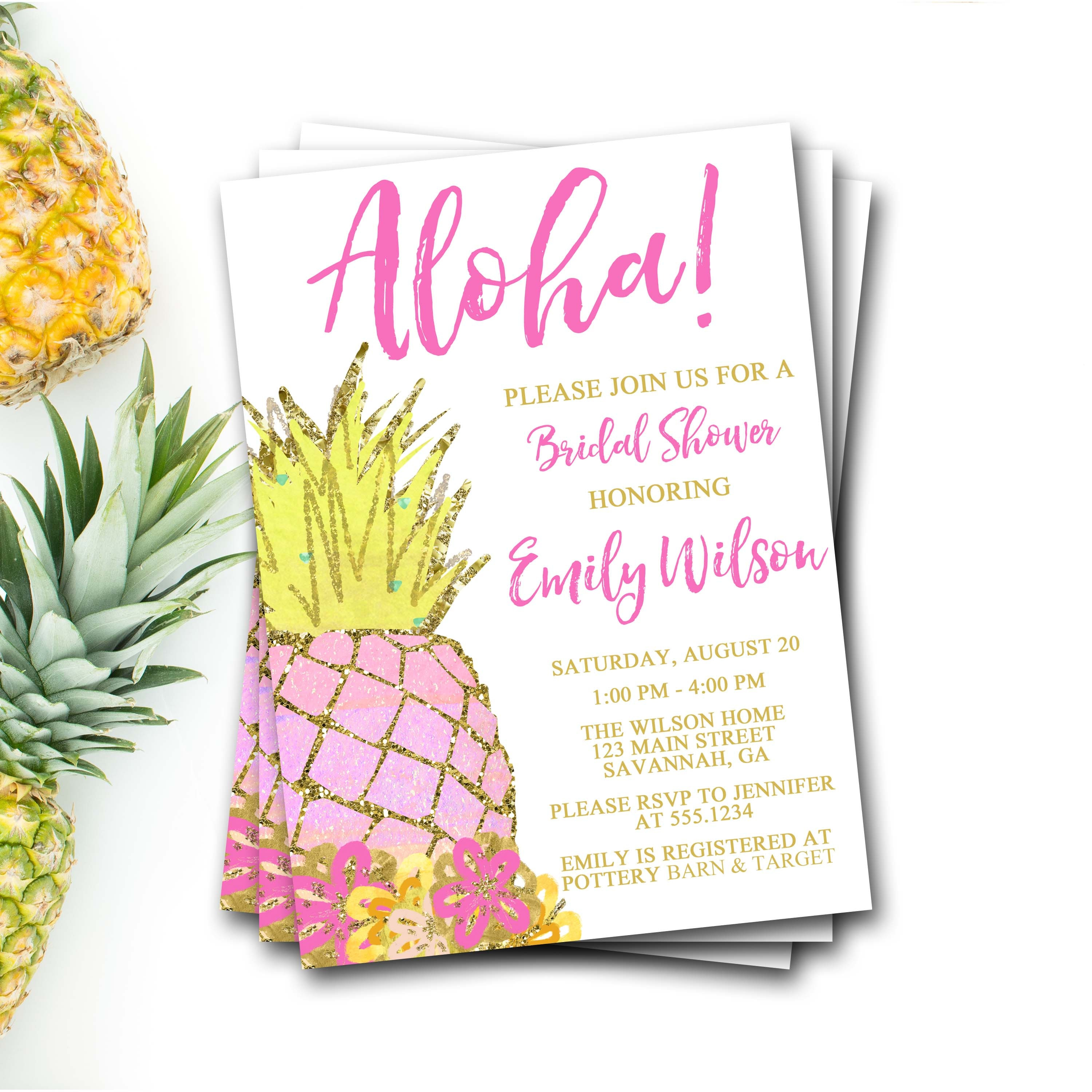 Pineapple bridal shower invitation pineapple shower pineapple pineapple bridal shower invitation pineapple shower pineapple invitation pineapple invite tropical shower invite luau bridal shower filmwisefo