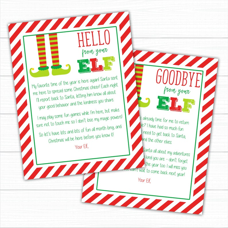 photograph regarding Elf on the Shelf Goodbye Letter Free Printable named Elf Return and Goodbye Letters, Fast Obtain Elf Letters, Elf Welcome Letter, Elf Goodbye Letter, Elf Printables