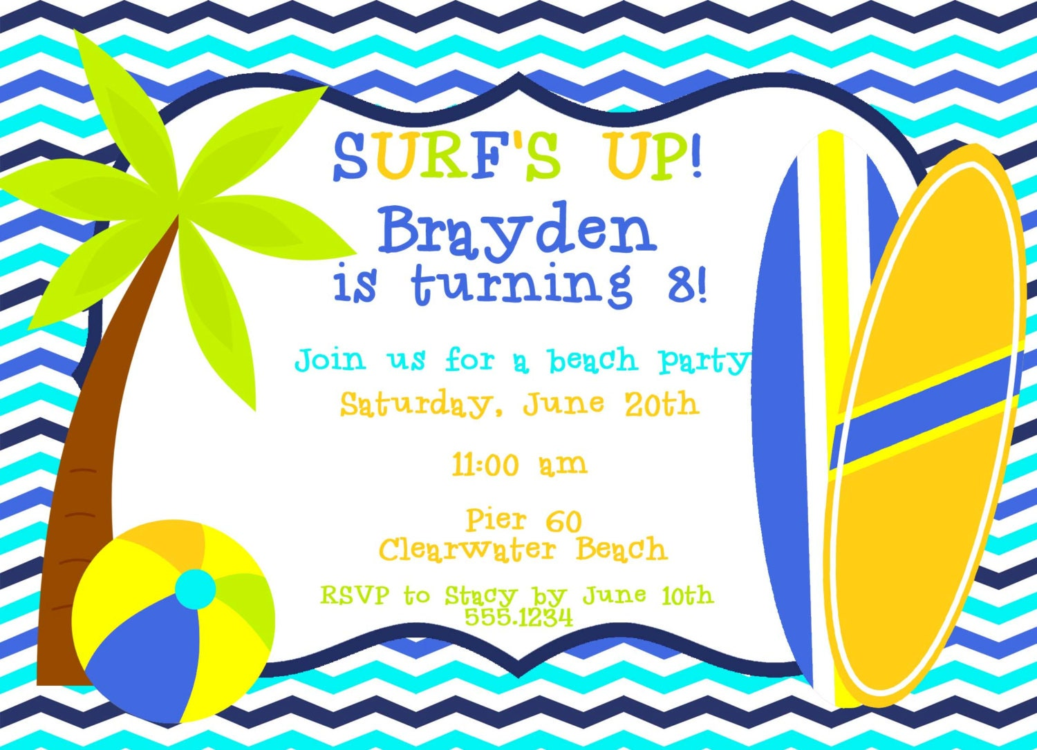 Nice Surf Party Invitations Inspiration - Invitation Card ...
