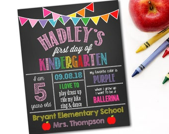 First Day Of School Sign, Back To School Sign, First Day Of School Chalkboard, 1st Day Of School Sign, Photo Prop, Preschool Sign