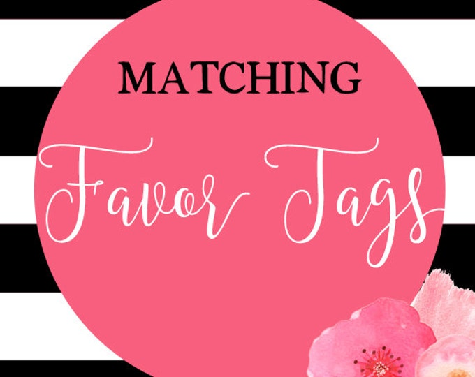 Birthday Favor Tags, Baby Shower Favor Tags, Party Favor Tags, Matching Favor Tags, Made to Match Any Invitation in Shop, DIY Printable