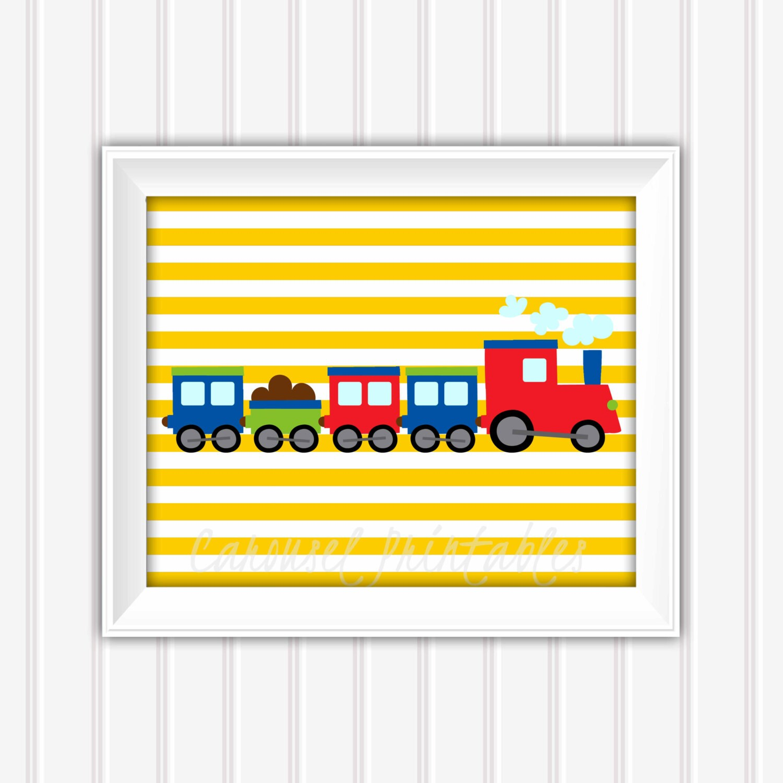 Train Wall Art, Transportation Wall Art, Train Decor, Instant ...