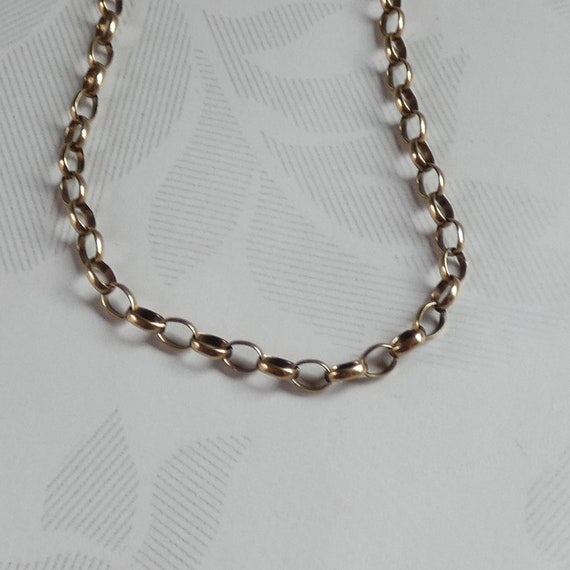 9ct Yellow Gold Belcher Link Necklace Chain