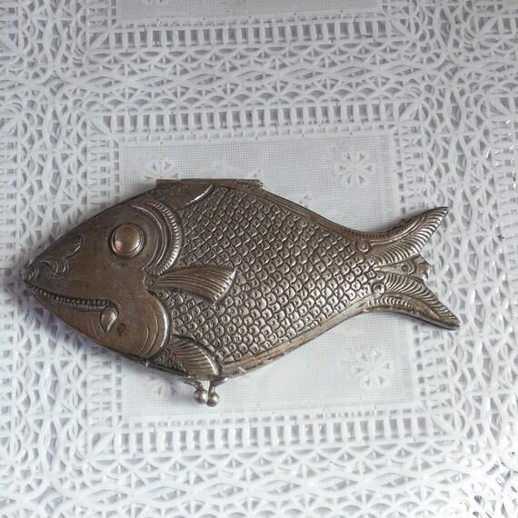 Antique Vintage Sterling Silver Coy Carp Koi Fish