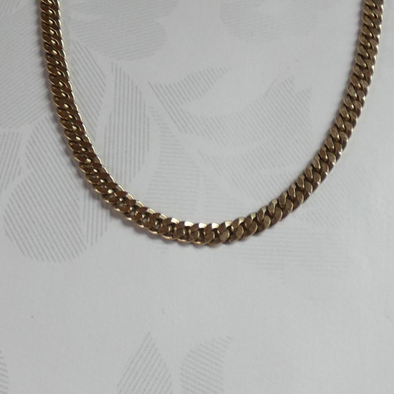 9ct Yellow Gold Curb Link Necklace Chain
