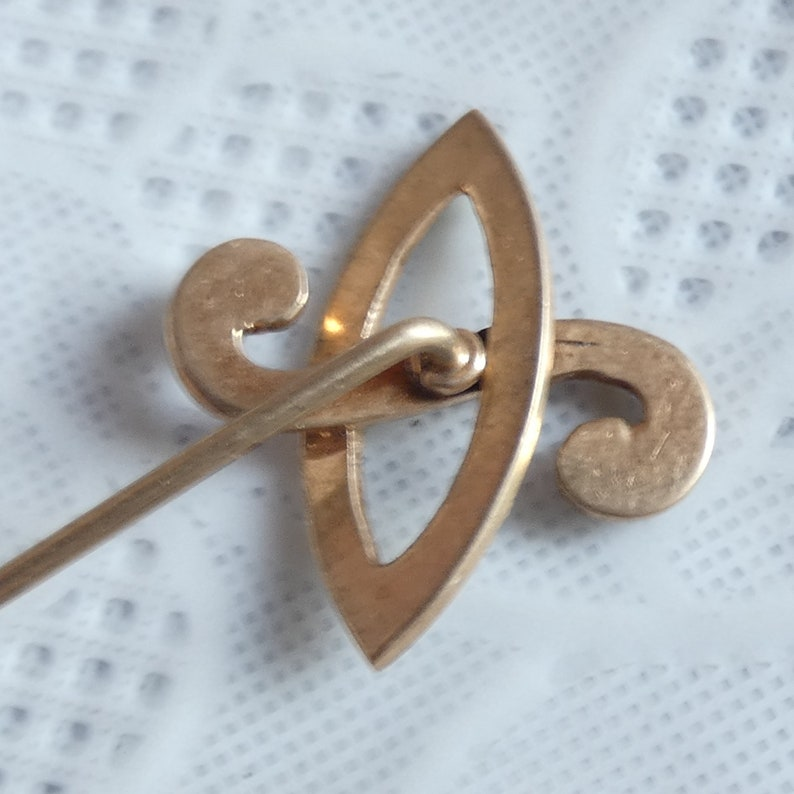 Antique Vintage 15ct Yellow Gold Seed Pearl Stickpin Cravat Pin