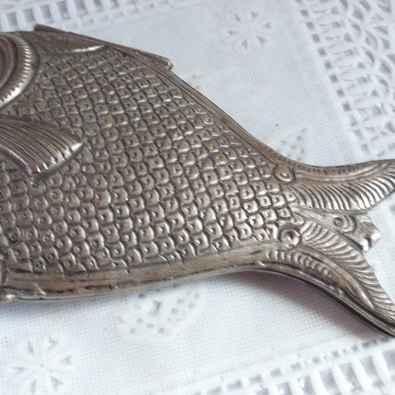 Antique Vintage Sterling Silver Coy Carp Koi Fish… - image 3