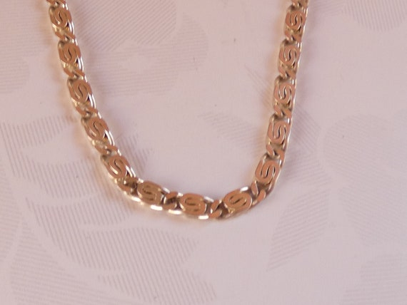 Sterling Silver Fancy Link  Necklace Chain