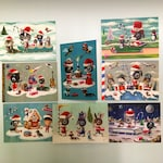 8 x Christmas cards - limited edition - hand signed and numbered