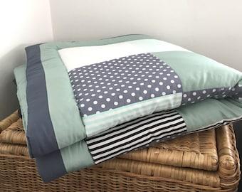 """Crawling blanket """"mint-grey"""""""