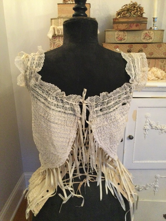 Antique Corset Cover 27 Ribbons womens