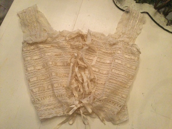 Antique Corset Cover 8 Ribbons