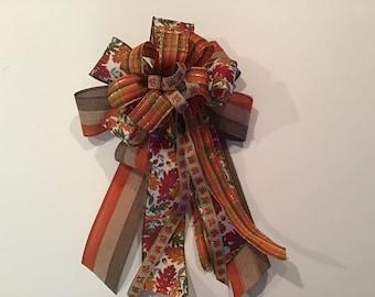 MEDIUM Thanksgiving Bow Ready to Ship Autumn Bow Bow Tie Fall Bow Cranberry Hair Bow Wine Bow