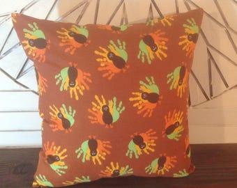 Thanksgiving pillow cover Thanksgiving turkey pillow cover Fall pillow cover Give thanks pillow cover Autumn decor Fall decor