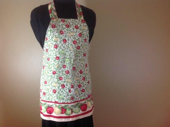 Full apron Apple apron Fall fabric fabric Baking a