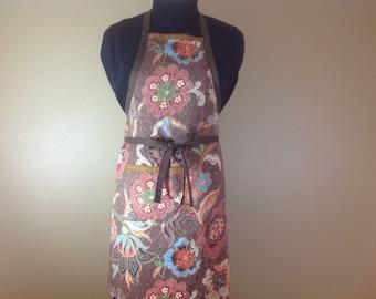 Full apron Fall apron Autumn apron Fall fabric fabric Baking apron Full apron Kitchen apron Thanksgiving apron