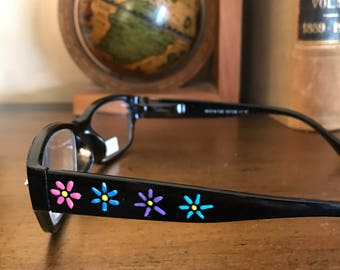 5a52469e07 Handpainted Reading Glasses-custom made for book clubs and teachers