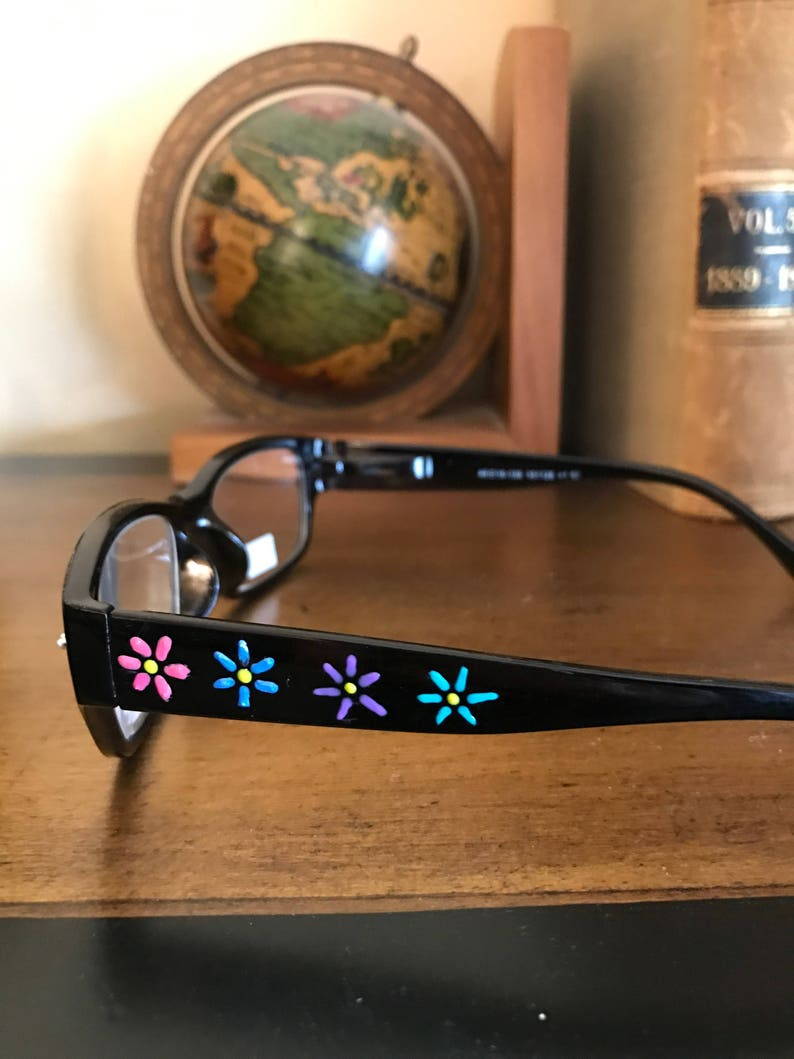 Handpainted Reading Glasses-custom made for book clubs and image 0