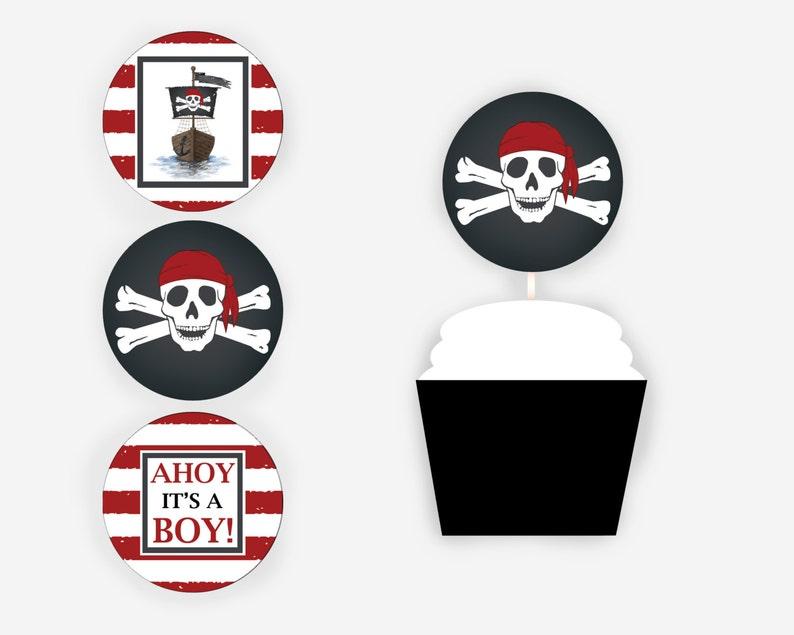 Printable Pirate Cupcake Toppers Item 231