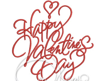 MACHINE EMBROIDERY DESIGN Happy Valentine's Day embroidery, Valentine's embroidery, love embroidery, Valentine's pes