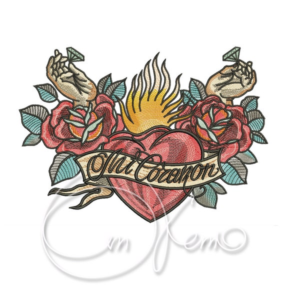 Machine Embroidery Design Old School Tattoo Embroidery Mi Etsy