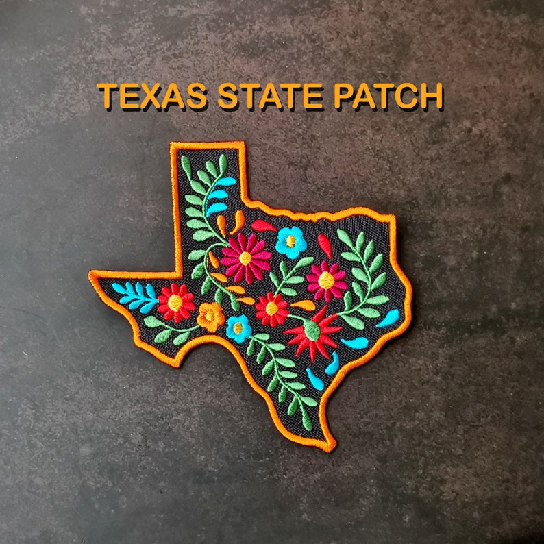 Mexican embroidered patch Mexican style Texas state mexican dress