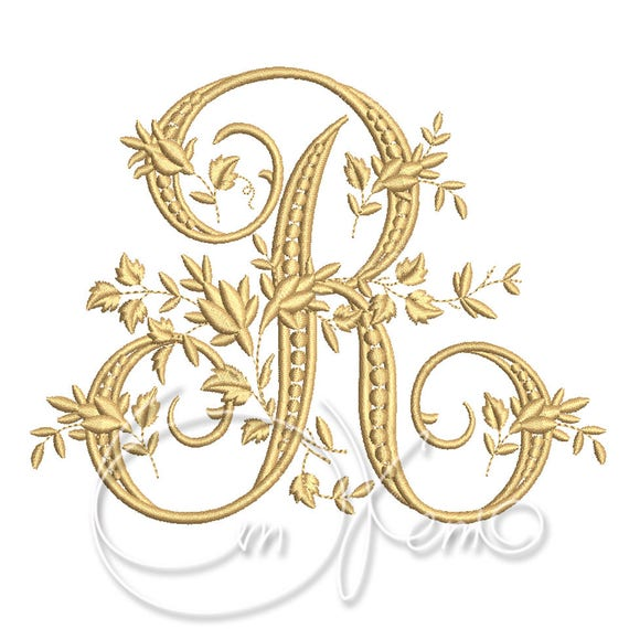Machine embroidery design victorian letter r embroidery etsy image 0 thecheapjerseys Image collections