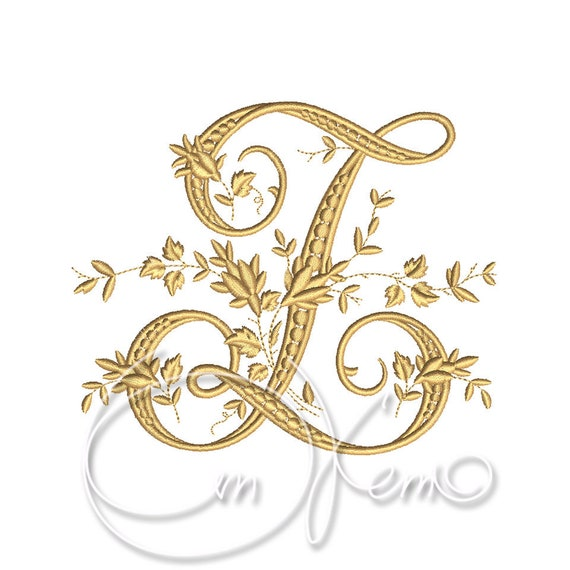 MACHINE EMBROIDERY DESIGN - Victorian Letter Z embroidery, Victorian  alphabet embroidery, Antique alphabet embroidery, Monogram embroidery