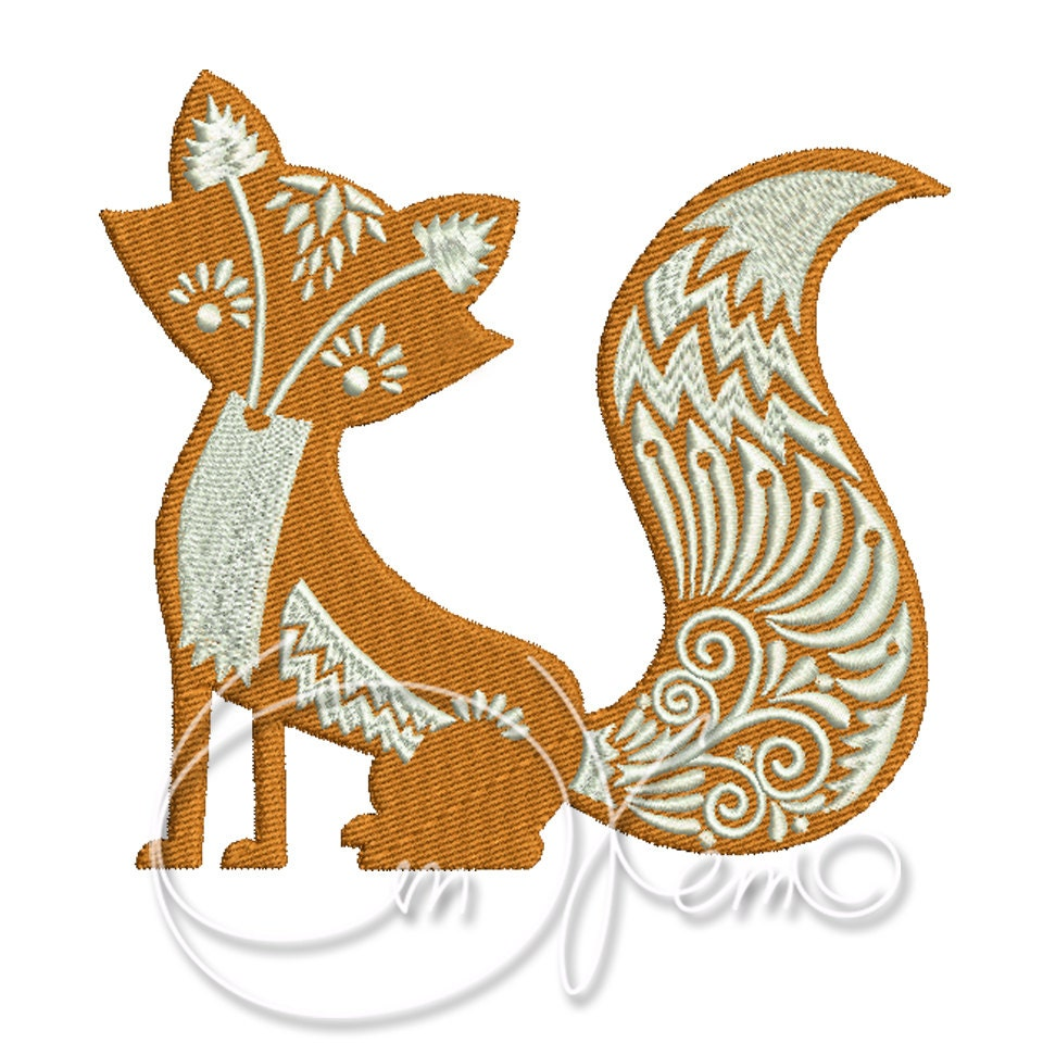 Fox Boy Embroidery 4x4, Instant Download Machine Embroidery Designs
