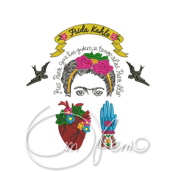 DISEÑO de máquina del bordado conjunto de Frida Kahlo | Etsy