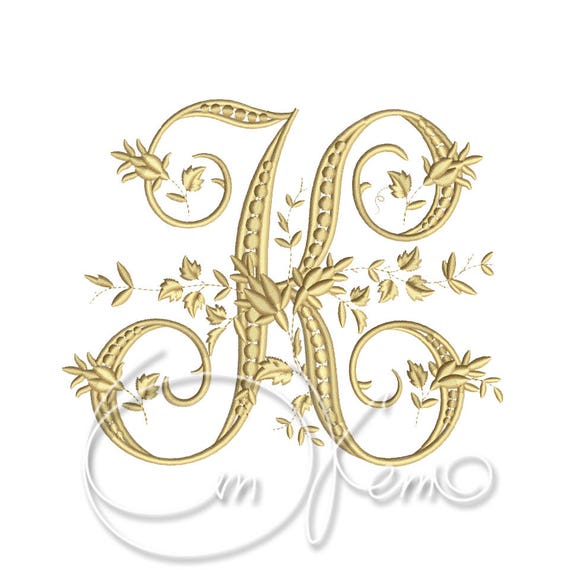 Machine embroidery design victorian letter k embroidery etsy image 0 thecheapjerseys Image collections