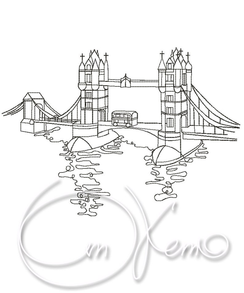 Machine Embroidery Design Tower Bridge Embroidery London