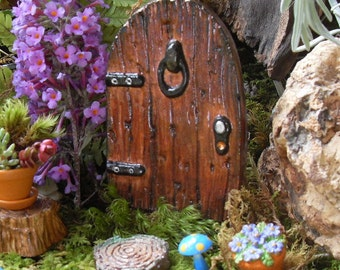 Handmade Fairy Door, Fairy Door Gift Set, Fairy Door Kit, Fairy Garden Door, Fairy Garden Decor, Fairy Door with Key