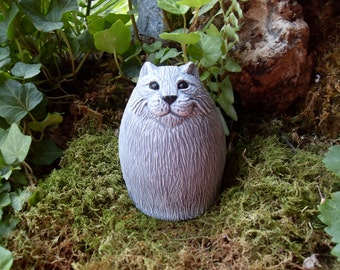 Cat Statue, Kitty Statue, Chubby Cat Statue, Fat Cat Statue, Abstract Cat  Statue, Garden Cat Statue, Garden Sculpture