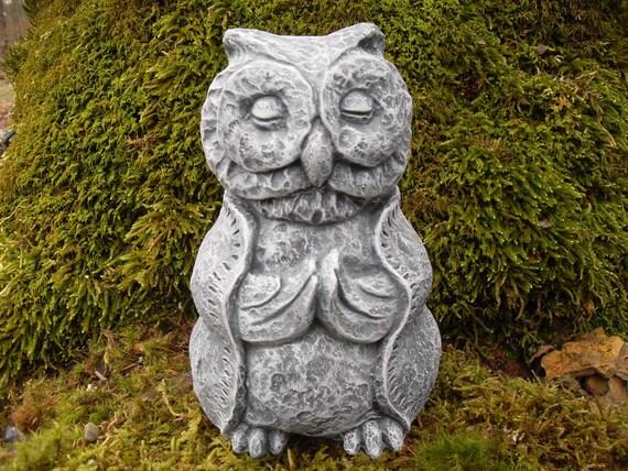 Garden Owl Meditating Owl Statue Owl Zen Buddha Owl | Etsy
