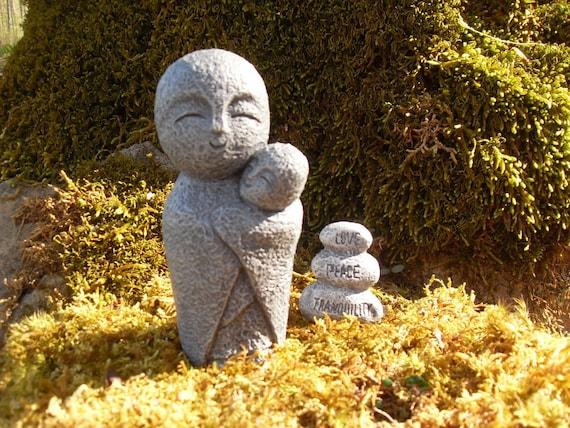 Jizo Statue Jizo Gift Set Jizo Figurine Protector Of | Etsy