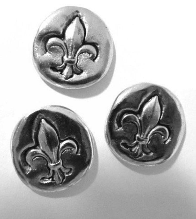 15 Pieces Decorative Push Pins Unique Silver Push Pins Fleur De Lis Push Pins Metal Push Pin Set