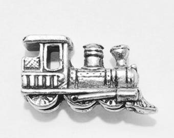 TRAIN Pushpin , 15pc Set, Antique Silver **FREE SHIPPING**Usually Ships the Same Day **