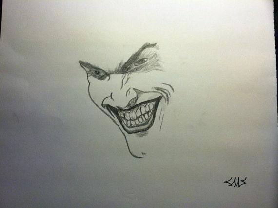Joker Face Sketch