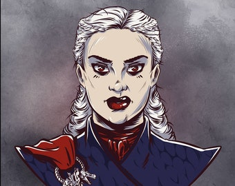 Daenerys Targaryen 5x7 Art Print, Game of Thrones illustration