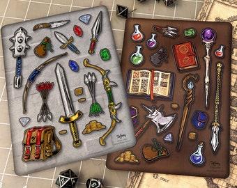 Fantasy Adventure Weapon + Magic RPG D&D Sticker Sheets