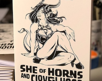 Sexy Devil Girl Pin-Up Sketchbook, Demoness Drawings and Art