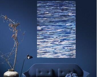 abstract modern acrylique paint: Ocean