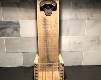 Rustic Wall Mounted Bottle Opener
