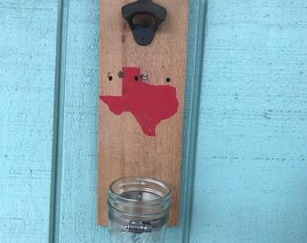 Texas Wall Mounted Bottle Opener