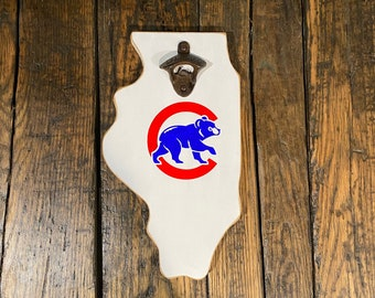Chicago Cubs Bears or Bulls Party Starter Bottle Opener Magnetic New Authentic