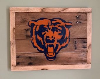 777618a20d4011 Chicago Bears Wood sign