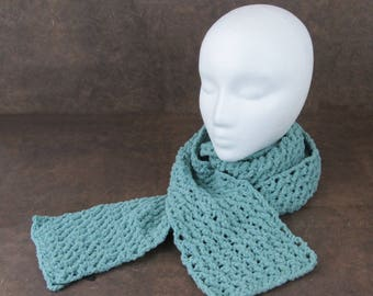 Soft Blue Chenille Scarf