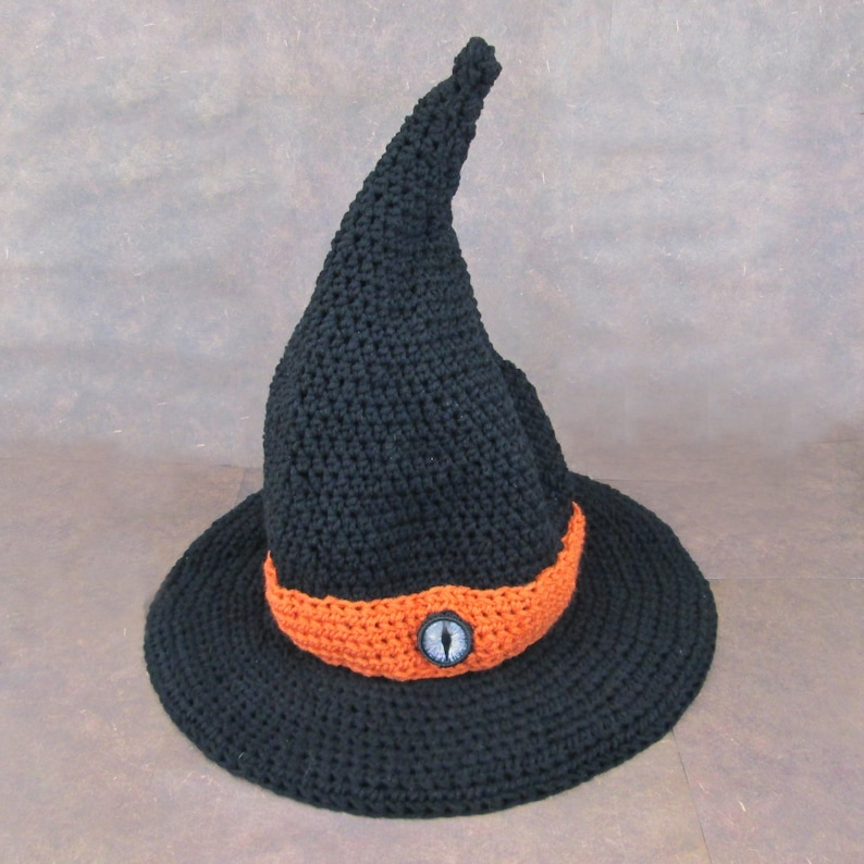 Witch Hat with hand painted Dragon eye  witch wicca occult image 0