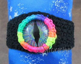 Rainbow Pride Unisex Hand Painted Crochet Bracelet